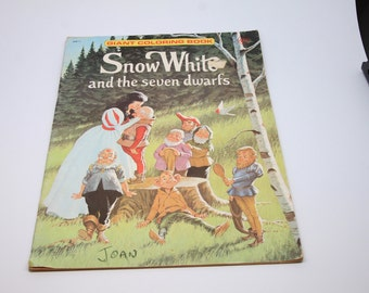 vintage giant coloring book snow white and the seven dwarfs paperback 1970s vintage