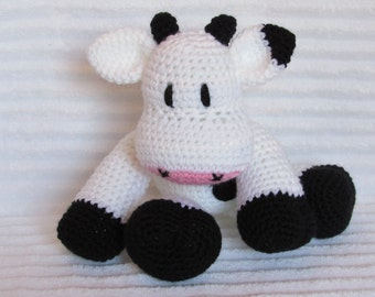 Crochet Cow Stuffed Animal, Crochet Animal, Cow Plush, Stuffed Cow, Crochet Cow Animal, Stuffed Animal, Farm Nursery, Cow Stuffed Animal