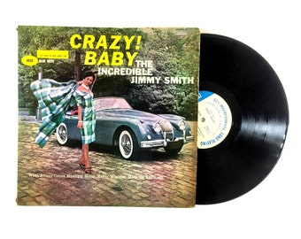 25% OFF The Incredible Jimmy Smith Crazy Baby LP Album Rare Microgroove Blue Note Mono Jazz Bop 1960 Makin Whoopee Vinyl Record