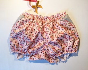 "Women's clothing pockets cotton Bloomer pattern ""floral rose"" / bloomers / shorts / retro Lingerie"