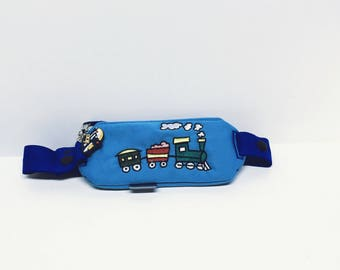 Insulin pump pouch / embroidered Choo Choo train
