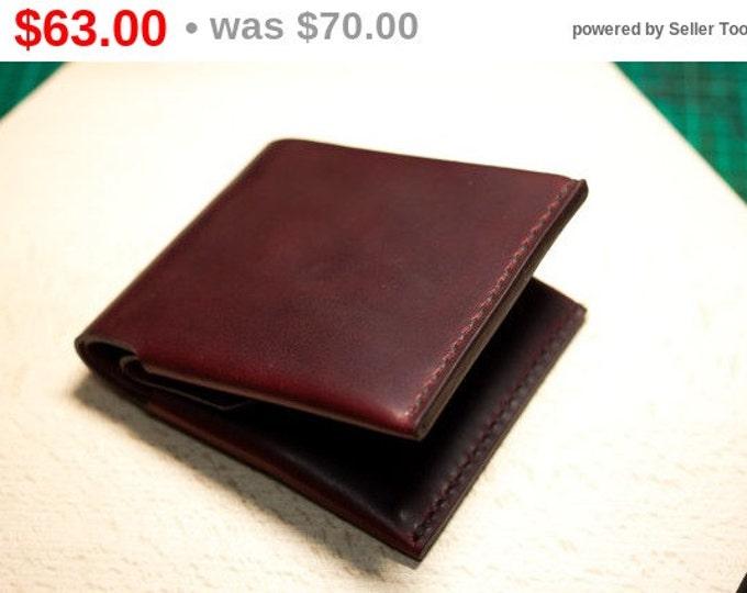 Men's Bifold Leather Wallet, Italian Campari Leather