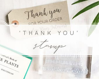 Custom Thank You For Your Order Custom Stamp | Business Stamp - Craft Business - Thank You Stamp
