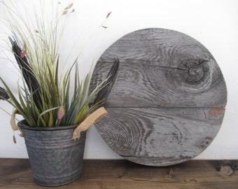Weathered wood round