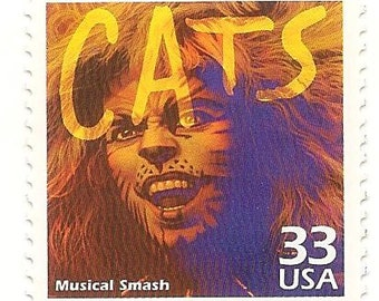 10 Unused 1999 CATS The Musical - Postage Stamps Number 3190b
