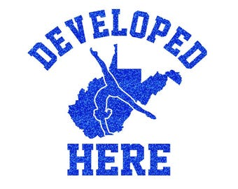 WEST VIRGINIA Develeped Here Iron On Decal