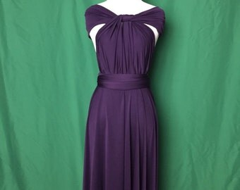 Bridesmaid Dress , Infinity Dress, Wrap Convertible Dress.Party dress-A style D style