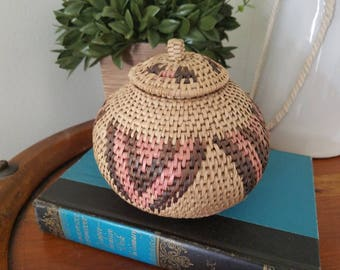 Beautiful Handwoven Basket with Lid