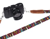Camera Strap made from vintage Guatemalan textile.