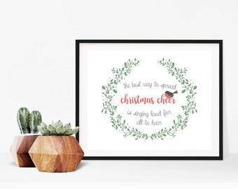 Elf Movie Singing Quote Christmas Sign Digital Print