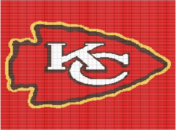 Crochet Pattern Kansas City Chiefs Afghan : Crochet Kansas City Chiefs Graphgan Pattern by FADesignCharts