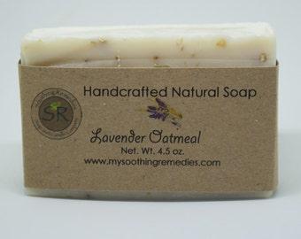 Lavender Oatmeal handmade soap