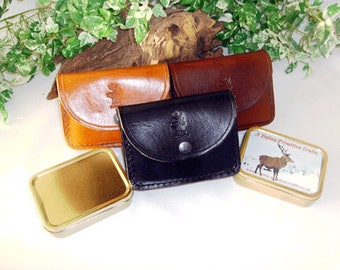 Leather Belt Pouch 2 camping survival bushcraft outdoors hunting