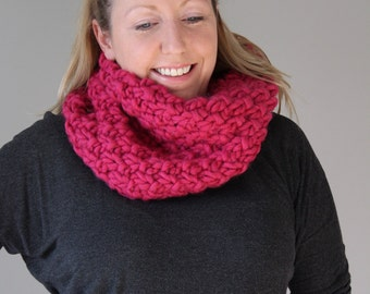 100% We Are Knitters Wool Cowl - Ultra Chunky - Ready to Ship - Premium Yarn, OOAK