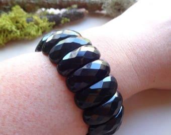 Black Agate Bracelet - everyday bracelet- Healing stone bracelets-protection bracelet