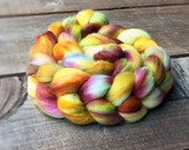 LAMPREY A color spinning fiber, Organic, Polwarth, roving, spinning, handpainted, hand dyed, top, wool