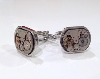 Steampunk Watch Movement Cuff Links