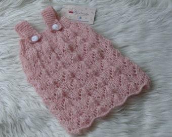 PATTERN Newborn Dress Overalls,Baby Girls Dress,Knitted Dress Overalls.Beautiful Dress Overalls.