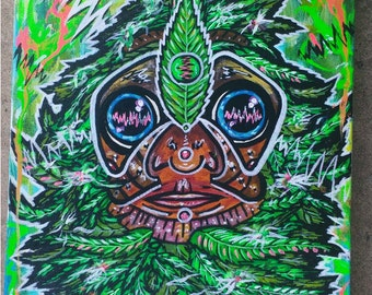 """Medicated"""" 12x16"""" canvas painting"""