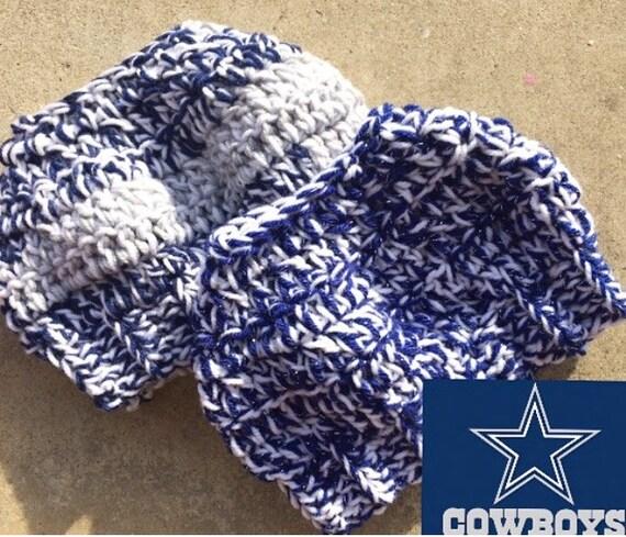 Dallas Cowboy Messy Bun Hat Set