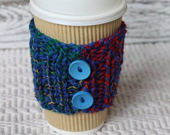 Knitted cozies, Cup Cozy,Coffee Cup Cozy, gift under 10, stocking