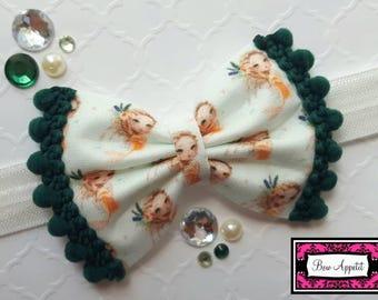 Mermaid Headband / Mermaid Hair Bow/ Mermaid Clip / Mermaid Pom Pom Bow / Mermaid Felt Hair Bow / Peach Mermaid / Pom Pom Bow