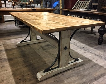 Rustic Industrial Reclaimed Bridge 6ft Frame Dining Table Steampunk