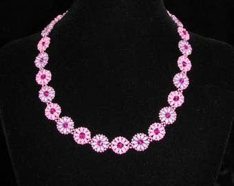 Pink & Lilac Daisy Chain Necklace