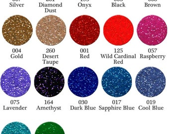 """12"""" x 12"""" Sheets of FDC 3700 Ultra Metallic Glitter Vinyl  - ships within 24 hours!  LOTS of colors to choose!"""