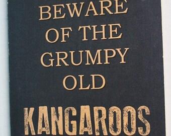 North Melbourne Kangaroos Grumpy Sign Aussie Rules Footy - Football Tickets Jerseys Memorabilia Merchandise