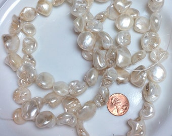 Ready to ship faux Pearl Bead Lot Chunky beads