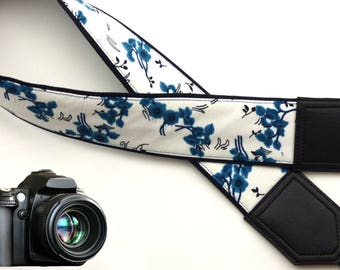 Flowers Camera strap.  Cute camera strap.  For Her. For Photographer. DSLR / SLRCamera Strap. Camera accessories.