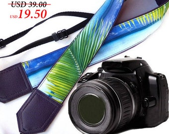 Purple camera strap. DSLR / SLR Camera Strap. Sea Camera Strap. Beach camera strap. Camera accessories. Photographer gift.