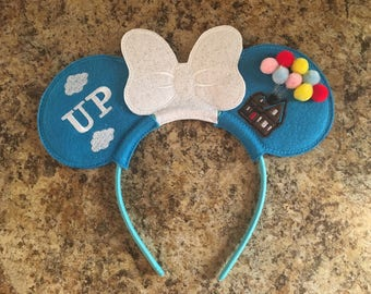 Disney Inspired UP Movie Headband - Mickey/Minnie Ears