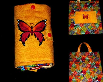 foldable bag embroidered large format (customizable)