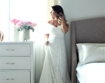 Maternity dress-wedding dress- The Wrap With Lace