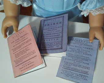 """Printable Colonial Historical Books for 18"""" American Girl Doll Felicity Accessories School Supplies"""