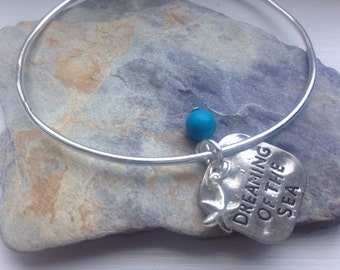 Dreaming of the sea and turquoise gemstone bangle