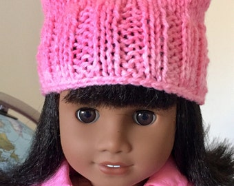 "Pussy Hat (for 18"" doll) Proceeds to ACLU"
