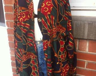 blouse baroque versace style XL women