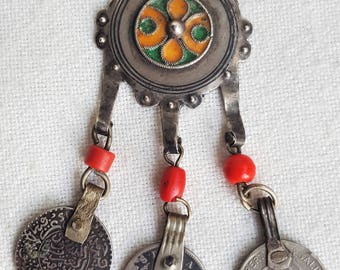 old moroccan silver pendent