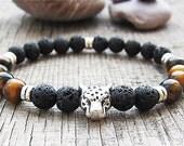 Mens bracelet Boyfriend gift Mens gift for men jewellery leopard bracelet animal bracelets tiger eye bracelets protection bracelet gemstones
