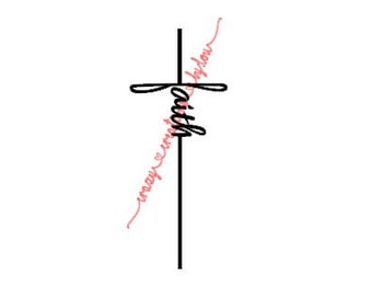 Faith Cross digital cut file for htv-vinyl-decal-diy-plotter-vinyl cutter-craft cutter-svg format