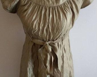 Gold vintage dress with zip back
