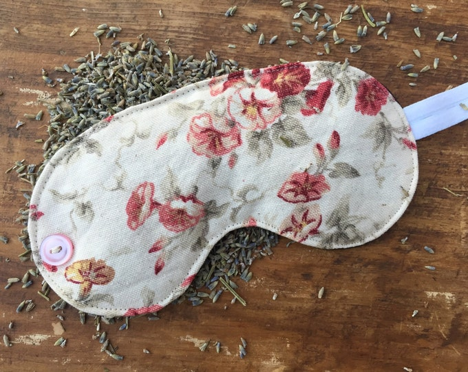 Featured listing image: Pretty Floral Lavender Sleep Mask