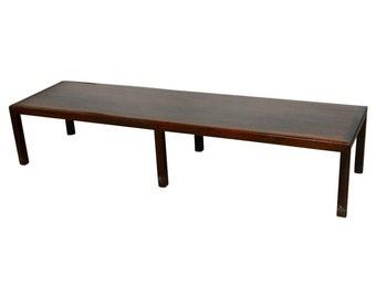 Mid Century Mahogany Bench Coffee Table