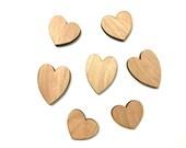 Set of 25 Mini Heart Cutouts, Laser Cut Hearts for Valentine's Day Decor