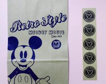 Mickey / Minnie / Disney / Kraft Paper Bag with stickers
