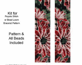 KIT for Peyote Stitch or Bead Loom Exotica Bracelet - Exotica Delica Bead Kit P33 for Bead Loom or Peyote Stitch Bracelet