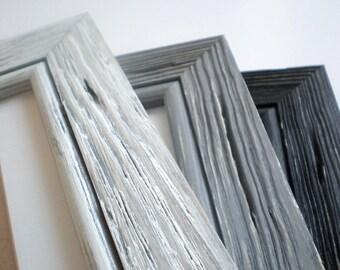 "Picture frame photo frame 12x12"" BLACK distressed frame crafts frame shabby chic frame driftwood frame home decor wall decor solidwoodshop"